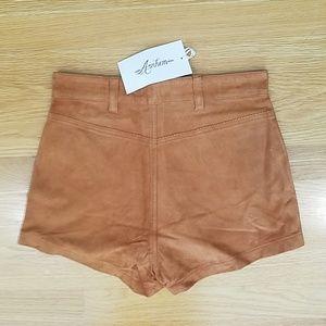 Arnhem Shorts - Arnhem Lone Ranger High Waist Suede Shorts